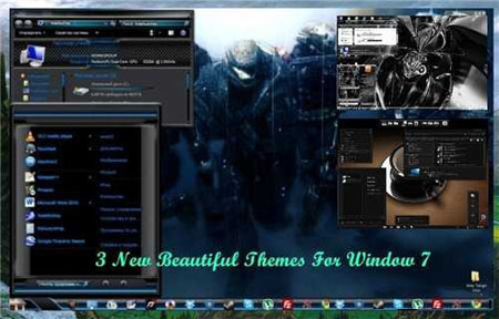 3 New Beautiful Themes for Windows 7