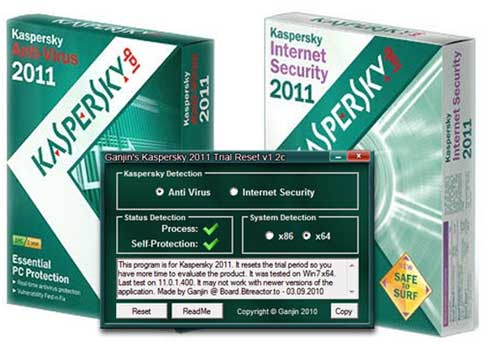 Kaspersky AntiVirus & Internet Security 2011 11.0.2.556 CF2 – Final with Trial Reset