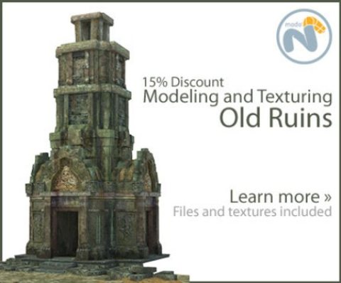 Modeling and Texturing Old Ruins - Modo and Photoshop